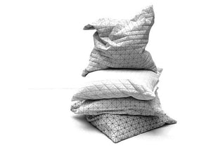 "Four pillows set, 19.5X19.5"" / 50x50 cm, cushions set, Home accessory, scatter pillow, textured covers, Geo pillows"