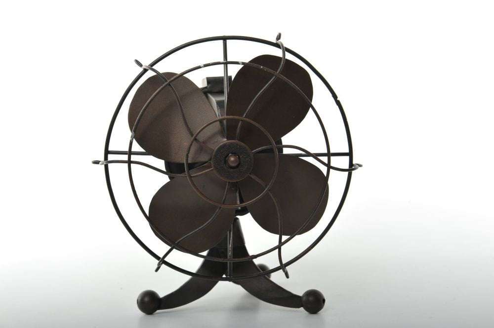 Miniature 4 Blade Retro Fan Vintage Decoration Antique Metal made