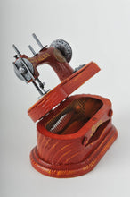 Miniature Red Vulcan Senior Sewing Machine Replica Vintage Decoration Antique Trinket Box