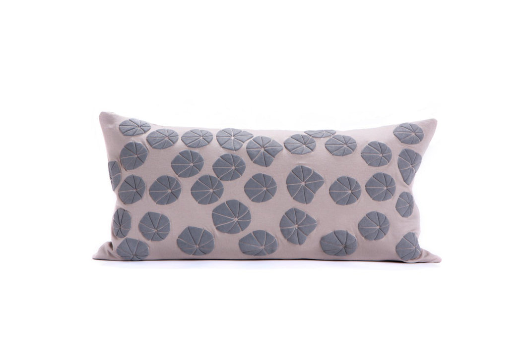 "Last units // Floral pillow cover. 60X30 cm, 23.5x11.8 "" Grey floral pillow. Rectangular pillow. Removable pillowcase. Flower pillow"