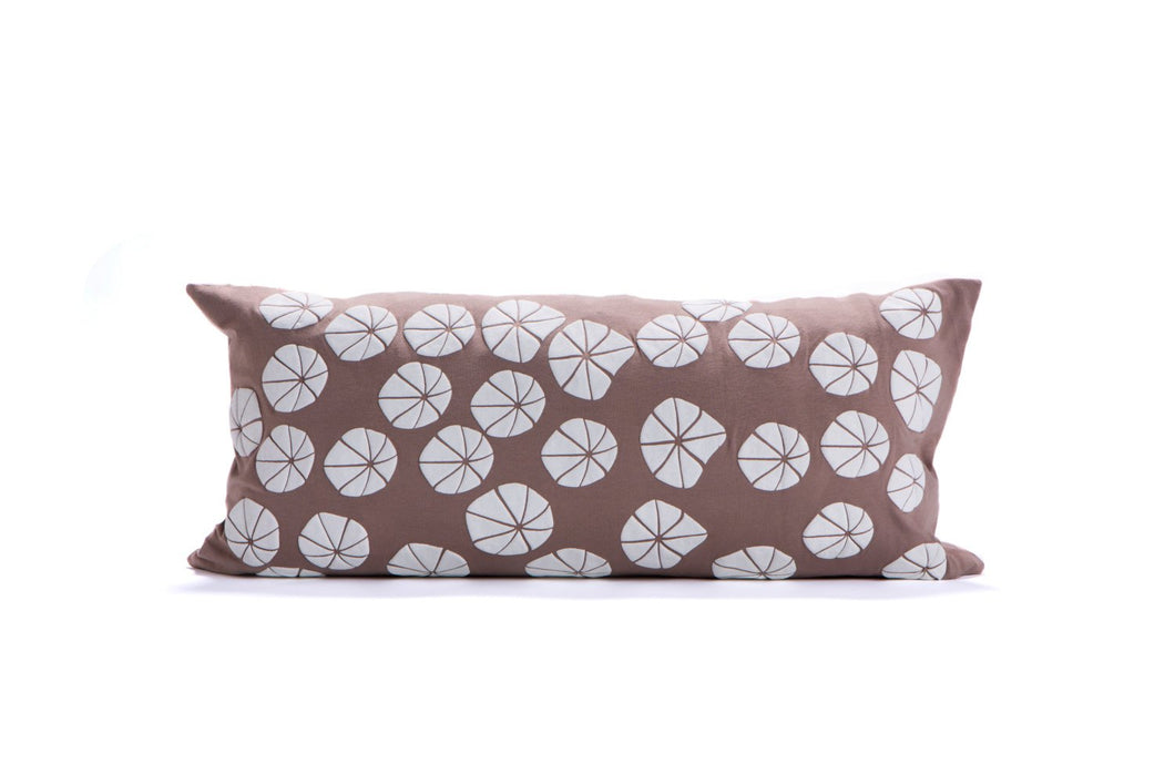 "Last units // Floral pillow cover 60X30 cm, 23.5x11.8"". Beige floral pillow. Rectangular pillow. Removable pillowcase. Flower pillow"