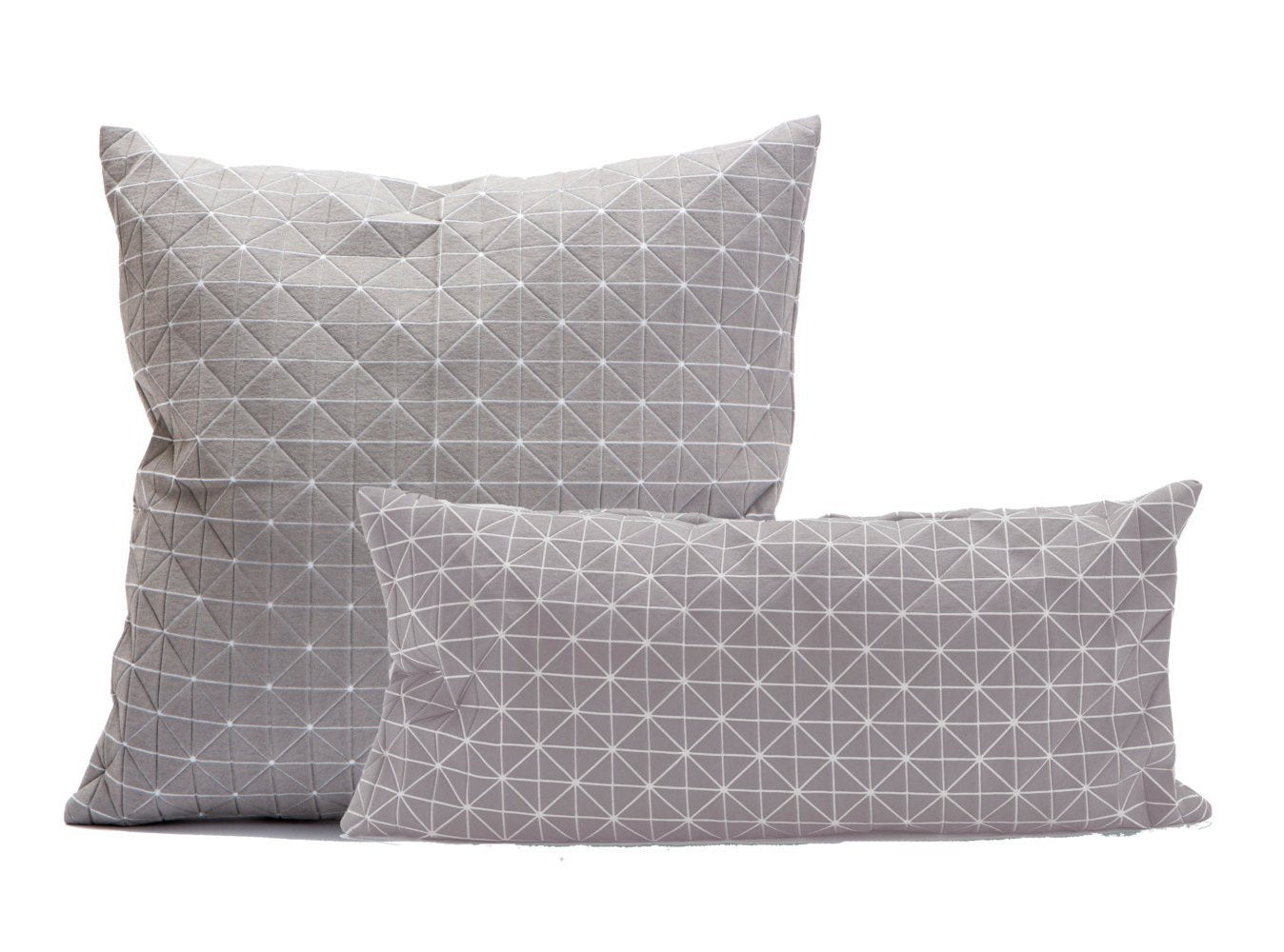 Two origami geometric pillow cases 50x50 cm/19.5X19.5 inch & 60x30 cm/23.5x11.8 inch, Pair of  folding cushion covers, Home accessory