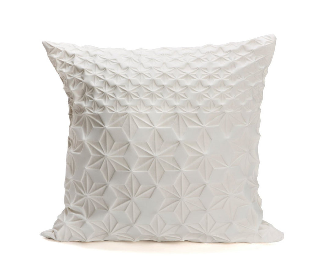 Cream floral pillow cover, 23.6