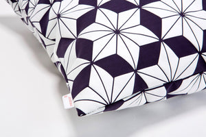 "Purple floral pillow cover, 19.5X19.5"", Geometry inspired cushion,Designer home decor accessory,Japanese inspired cushion cover, Ami pillow"