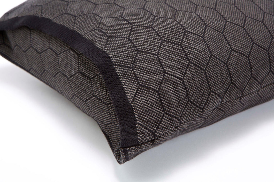Olive and black soft pillow cover 55x45 cm/ 22x18