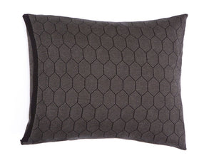 "Olive and black soft pillow cover 55x45 cm/ 22x18"", Honeycomb knitted cushion, Modern design home decor accessory, Hive cushion"