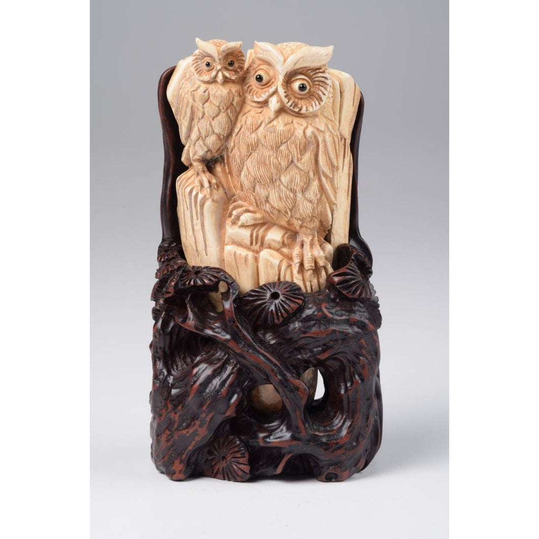 Mammoth Ivory- Couple of Owls