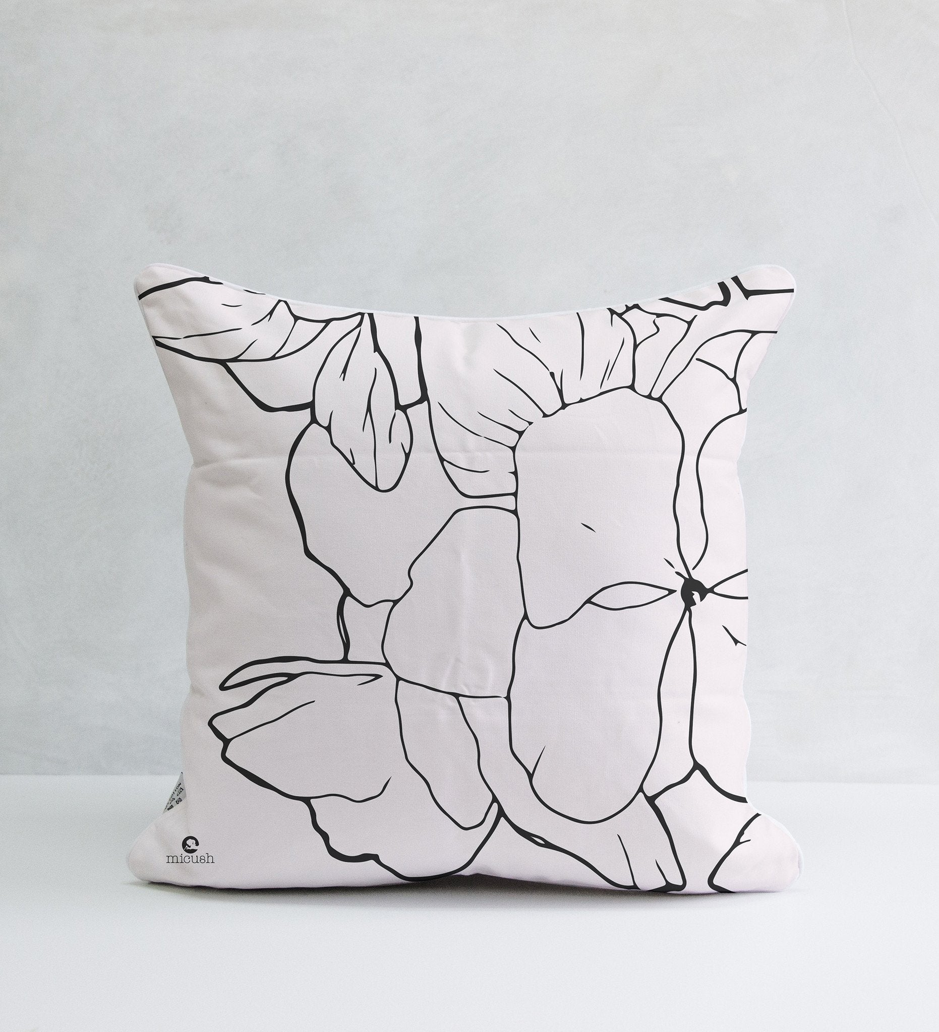 Decorative Pillow - Geranium Illustration