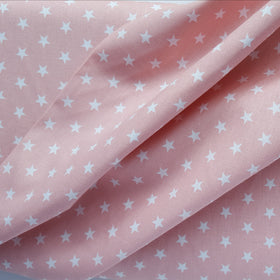 Pink and White Star Print Cotton /.25m