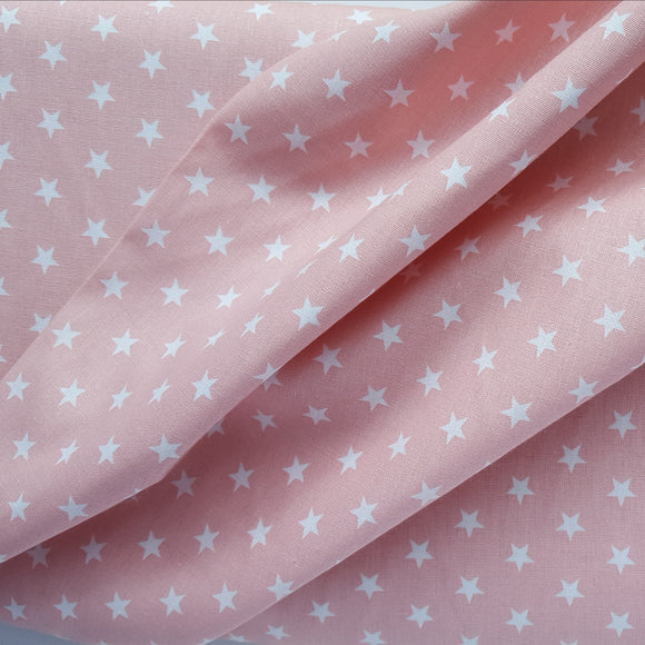 Pink and White Star Print Cotton /.25cm