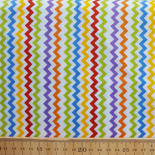 Multicoloured Chevron Print Cotton /.25m