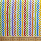 Multicoloured Chevron Print Cotton /.25cm