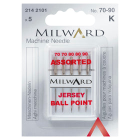 Sewing Machine Needles - Jersey Ball Point (Universal)