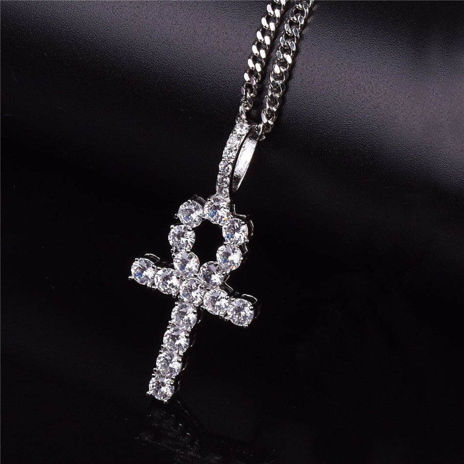 18k Gold Plated/White Gold Plated, Ankh Pendant