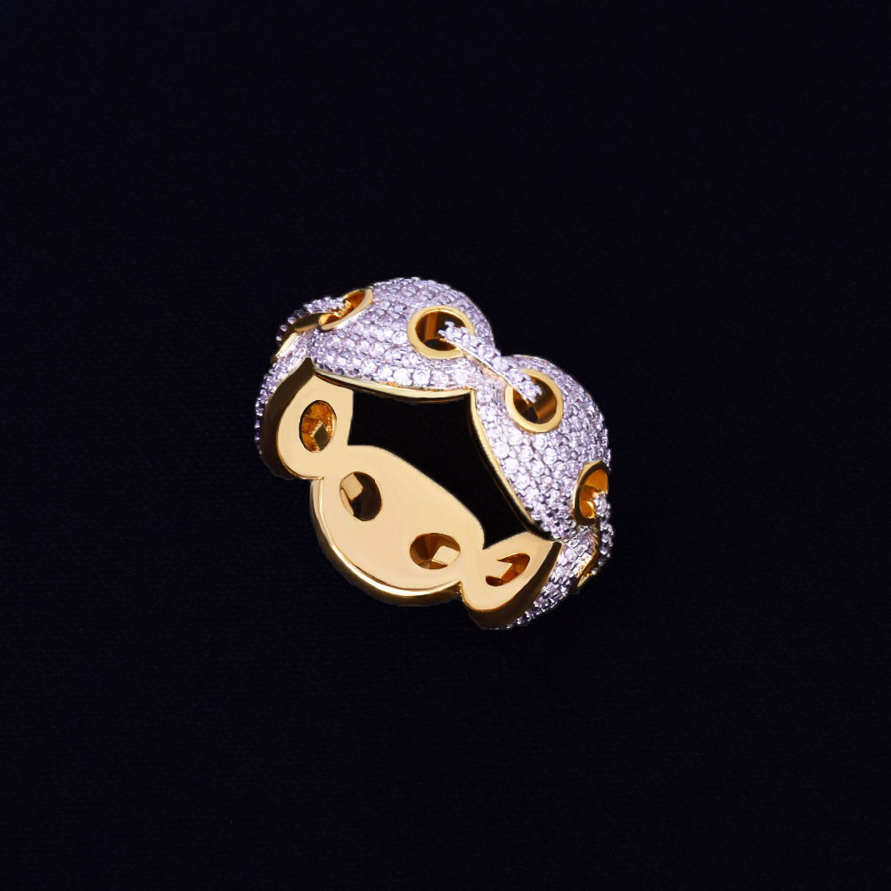 18k Gold Plated Gucci Ring (12mm)