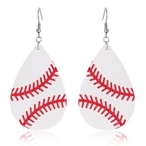 Leather Sports Earrings