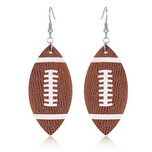 Load image into Gallery viewer, Leather Sports Earrings