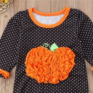 Polka Dot Pumpkin Jumpsuit