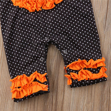 Load image into Gallery viewer, Polka Dot Pumpkin Jumpsuit