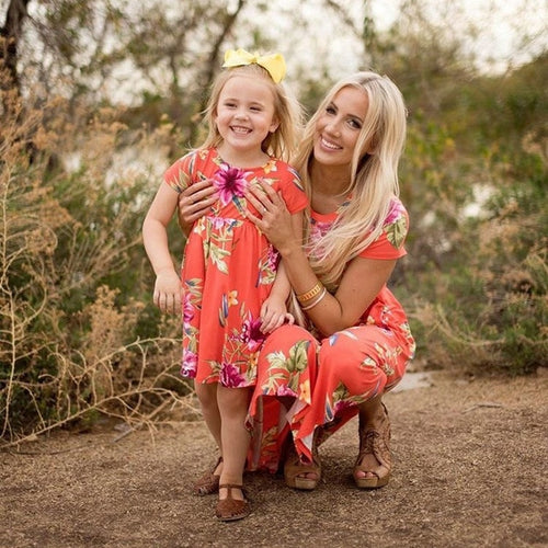 Mother/Daughter Floral Dress