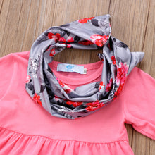 Load image into Gallery viewer, Pretty Girl Ruffle Top+Flower Leggings +Scarf