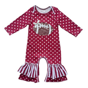 Polka Dot Football Jumpsuit