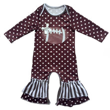 Load image into Gallery viewer, Polka Dot Football Jumpsuit