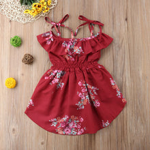 Load image into Gallery viewer, Floral Off Shoulder Romper Dress