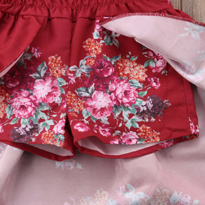 Floral Off Shoulder Romper Dress