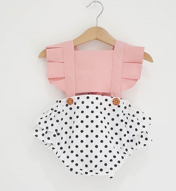 Baby Girl Summer Backless Sunsuit