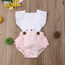 Load image into Gallery viewer, Baby Girl Summer Backless Sunsuit