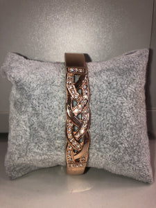 Ada - Diamonte Twist Bangle