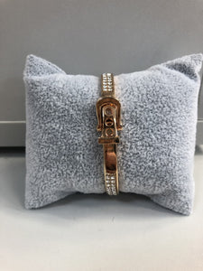 Lula - Designer Inspired Buckle Bangle