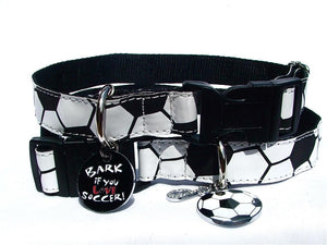Football Design Adjustable Dog Collar