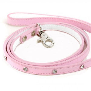 Pink Candy Floss Jewel Encrusted Dog Lead