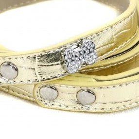 Stunning Gold 'Dollar' Dog Lead