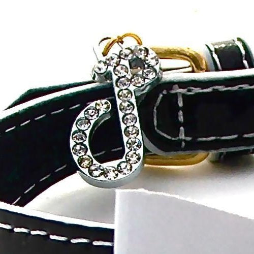 Bow Tie Jewelled Dog Collar