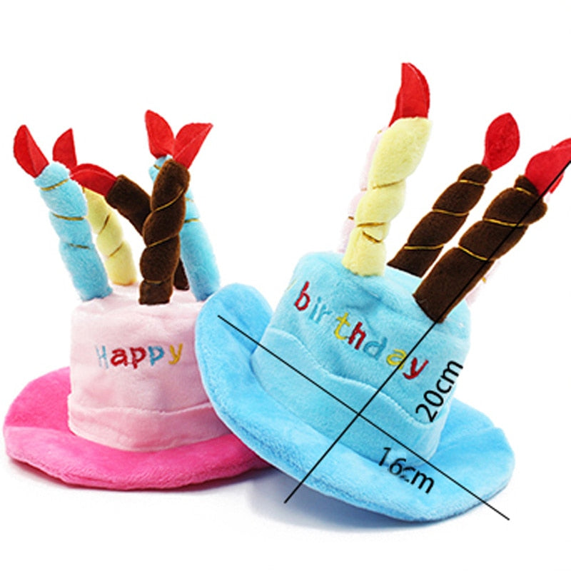 Cute Dog Birthday Hat with Candles