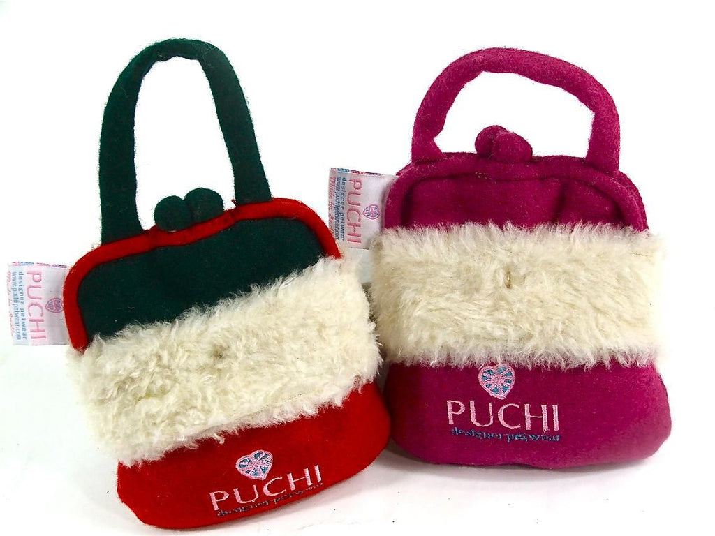 Designer Puchi Handbag Squeaky Dog Toy
