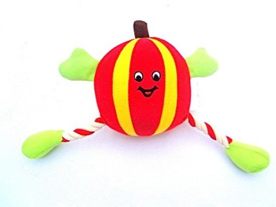 Squeaky Pumpkin Pete Dog Toy