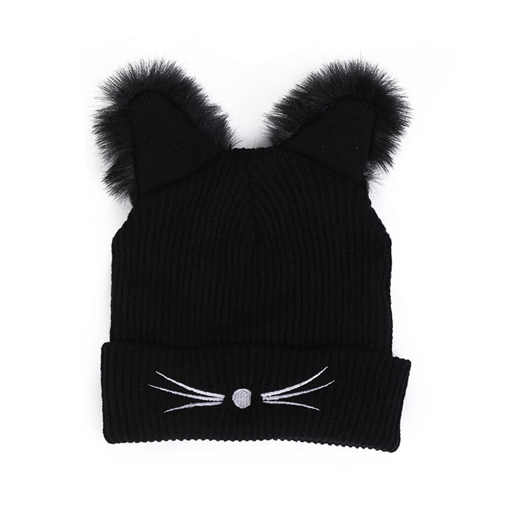 Beanie Hat with Cute Features