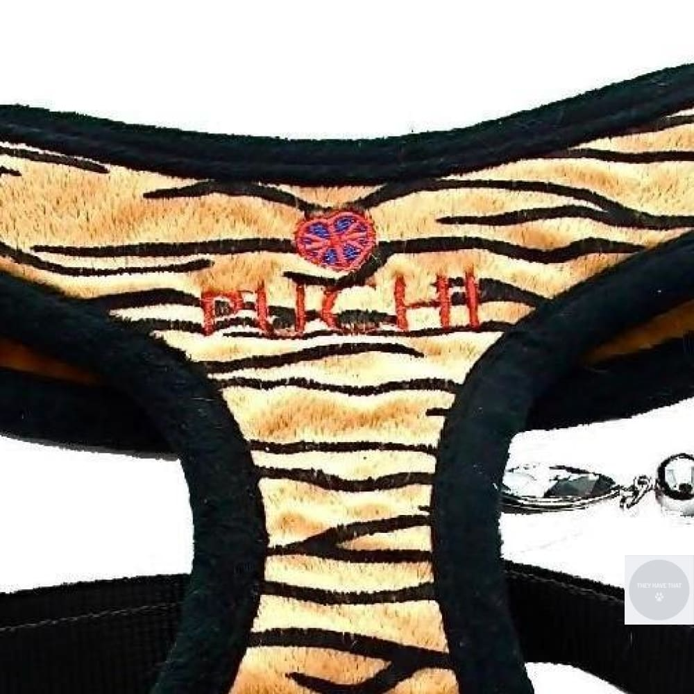 Tiger Print Harness Plus Lead For Doggies Harness