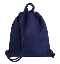 Jeune Premier - Lion Head - Stylish blue sports bag with lion for boys to take gym equipment to school.