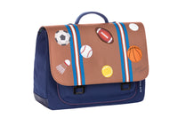 Jeune Premier - Sports Jock - Cool, timeless school bag with sports balls for boys in primary school.