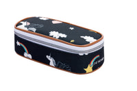 Jeune Premier - Rainbow Unicorn - Timeless blue pencil box with unicorns and rainbows for girls in primary school.
