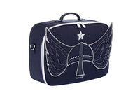 Jeune Premier - Viking - Blue travel bag with viking helmet for tough boys.