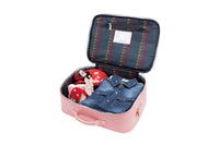 Jeune Premier - Cherry Studs - Trendy pink travel bag with studs and cherries for girls.