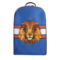 Jeune Premier - Lion Head - Stylish blue backpack with lion for boys in secondary school.
