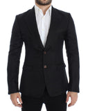 Black silk slim fit blazer