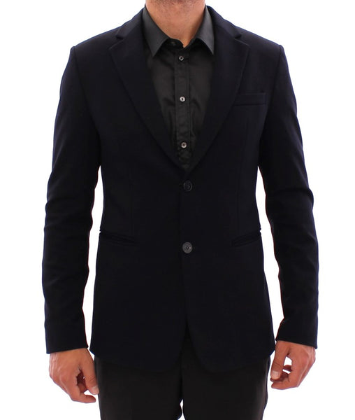 Marine blue slim fit blazer